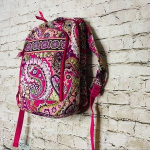 Vera Bradley Paisley Pink Backpack/laptop bag